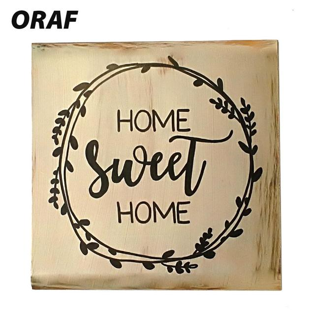 farmhouse style sign home sweet home shelf vintage wood plaques
