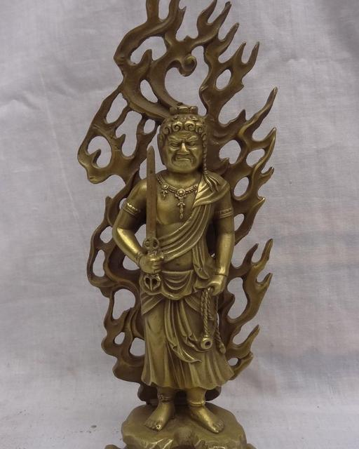 Envo libre 8 Budismo Japons Puro Fudo Mio O Achalanatha Estatua