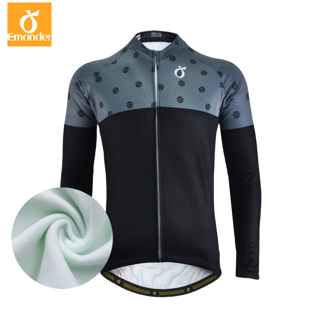 aef150127 EMONDER Thermal Fleece Cycling Jersey 2017 Winter Warm Up Bicycle Clothing  Windproof Mountain Soft shell Coat MTB Bike Jackets
