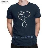 Designs Crazy Tee Shirt Perfect Heartbeat Cat Dog Love Paw T Shirt For Men Short Sleeve