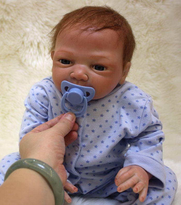 20 дюймов силиконовые возрождается куклы ручной работы Реалистичного Reborn Baby Куклы новорожденный младенец pecifier bonecas дети Обувь для девочек П...