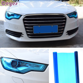 Car-Styling DIY 30x100cm Auto Light Headlight Taillight Decoration And Protection Film On Lamp Stickers Brake Light Car Styling image