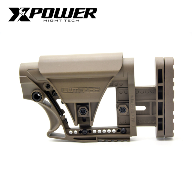 XPOWER LUTH MBA-3 STYLE Adjustable Extended STOCK For Air Guns CS Sports Paintball Airsoft Tactical BD556 Receivers Gearbox