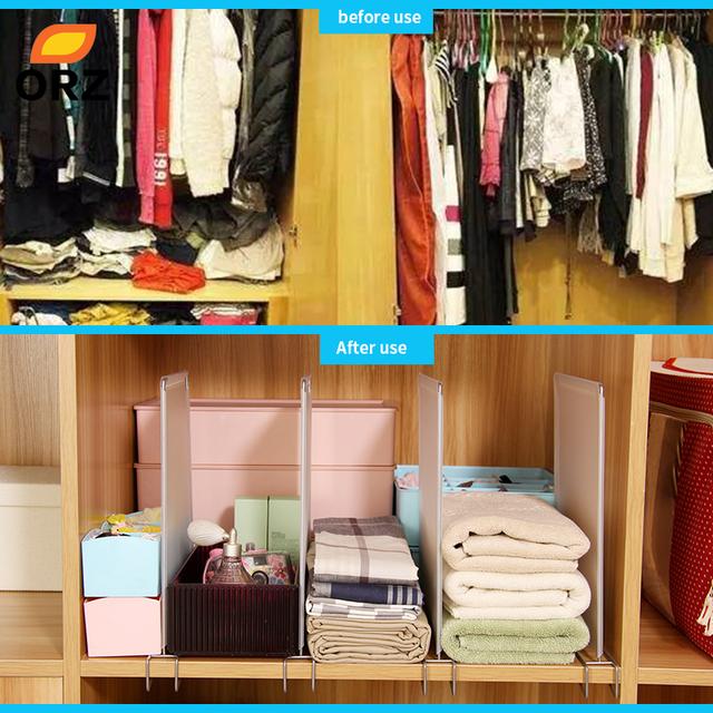 Msjo Schowek Organizer 4 Sztzestaw Plastikowe Home Szafa Bielizna Biustonosz Biżuteria Sundries Regulowany Szuflada Board Storage Box
