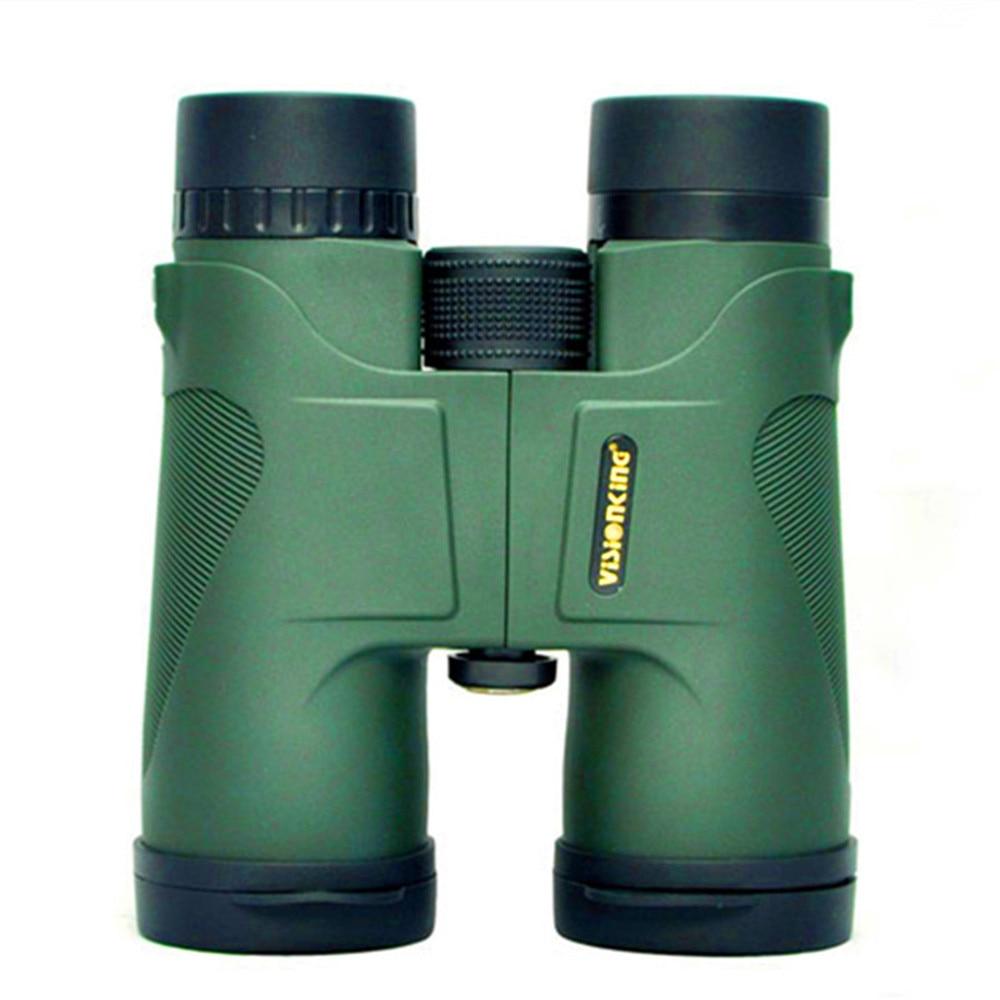 ФОТО Visionking High Quality 10x42 Hunting Binoculars Waterproof Telescope Green and Black Binoculars Prismaticos De Caza Binoculars