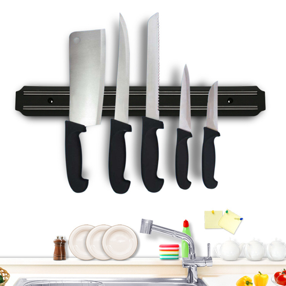 Powerful Wall-Mounted Magnetic Knife Holder Stainless Steel Block Magnet Knife Holder Rack Stand For Knives Utensil Accessories