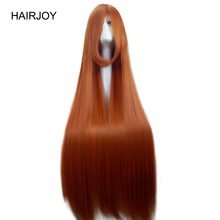 HAIRJOY ​​120cm Orange Kostym Parti Cosplay Wig Super Lång Straight Synthetic Hair