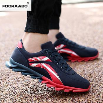 2019 Spring Korean Fashion Suede Leather Sneakers Men Shoes Luxury Brand Classic Outdoor Red Black Trainers Men Casual Shoes zapatillas de moda 2019 hombre