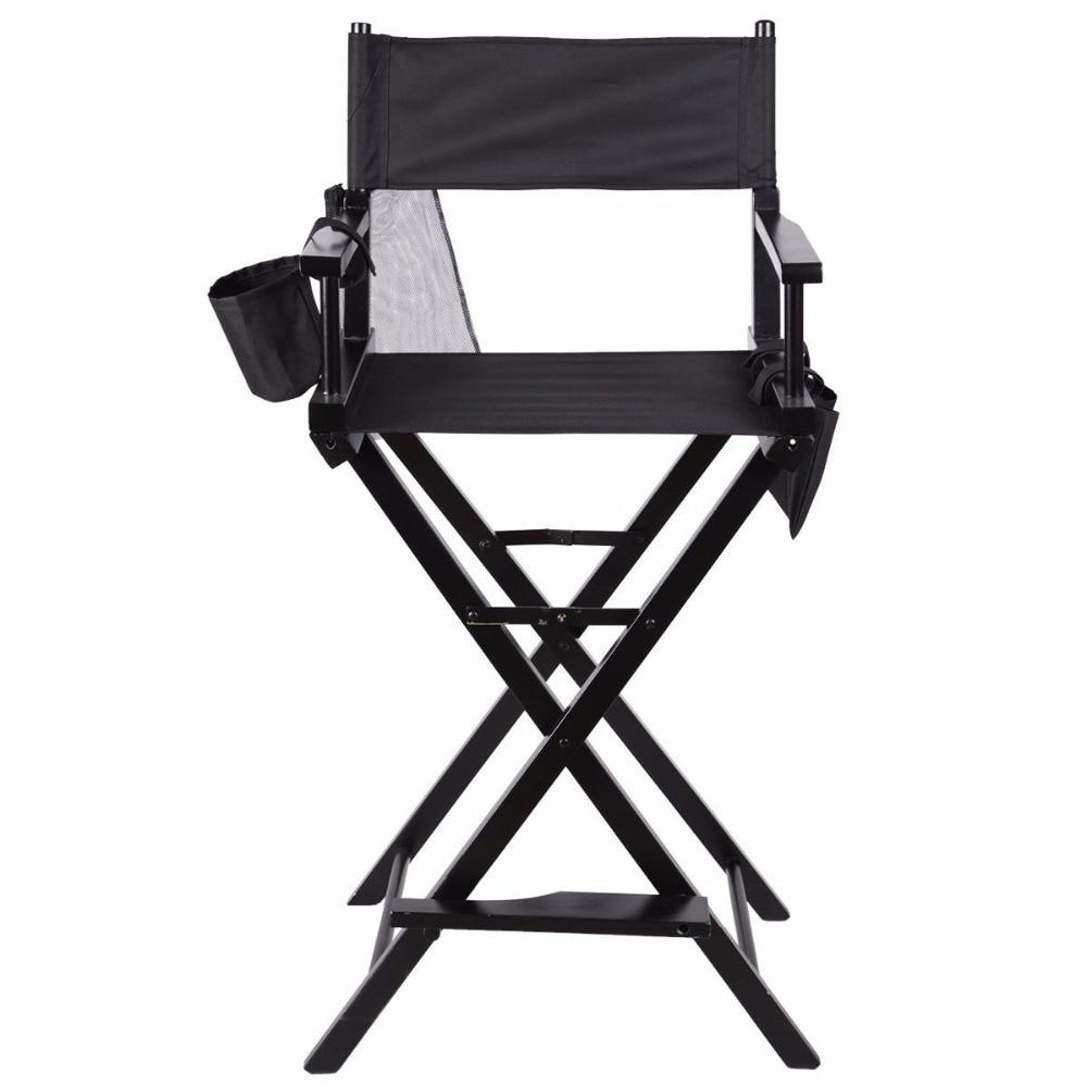 Silla de Director Plegable de Madera con bolsas para maquillaje Pelicula Studio HW46460 la silla de pedro