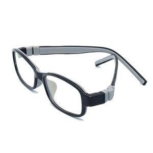 Image 3 - ราคาโรงงานแฟชั่นเด็กซิลิโคนกรอบแว่นตาแสงสกรูไม่มีแตกชายหญิงที่มีห่วงโซ่ขนาด48 15 130 Y1072