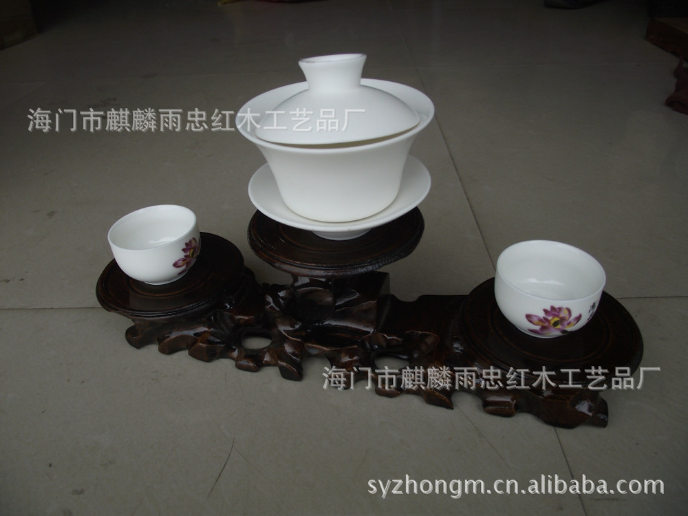 Yixing teapot jade stone ornaments vase base of small circle Backgammon Root