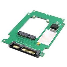 50mm mini PCI-E mSATA SSD to 2.5″ SATA 22pin Hard Disk Converter Adapter PCBA