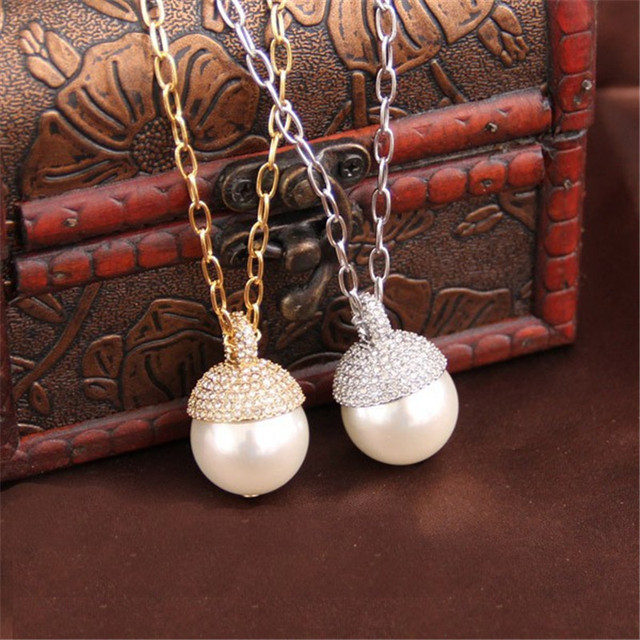 XQ xq Free shipping 2015 And the wind of high-end jewelry long glass pearl necklace pearl sweater chain