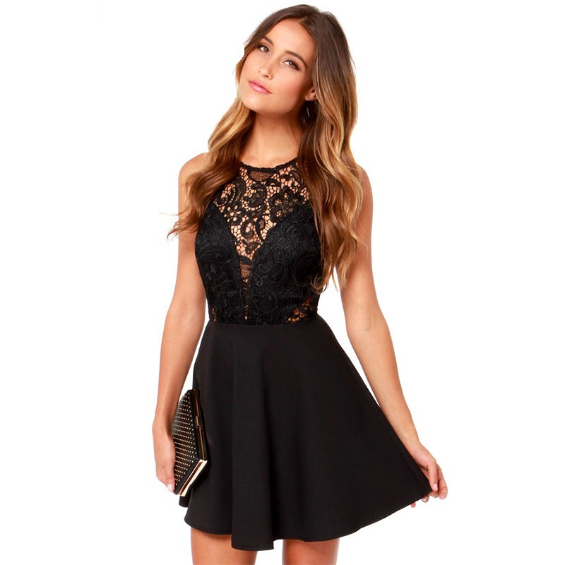 Vestido negro fiesta elegante