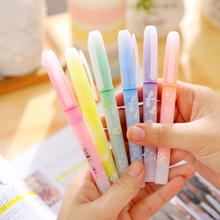 6pcs/lot 13.5mm Colorful Highlighter Cute Little Duck Fruit Fragrance Yellow Candy Colored Markers Promotional