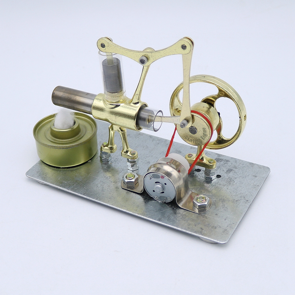 все цены на New Arrival Mini Hot Air Stirling Engine Motor Model Educational Toy Science Experiment Kit Set For Chuldren