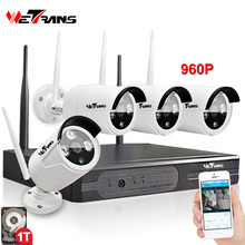 Wifi Camera NVR Kit 4CH Kit Plug&Play P2P HD 960P 20m Night Vision Waterproof Outdoor Indoor Video Surveillance System Wifi цена 2017