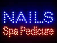 Nled097-b Nails Spa Pedicure LED Neon Teken 16