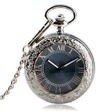 cc301bfdd7f Mecânica Auto Vento Automático Relógio de Bolso do vintage Relógio de Bolso  Fob Relógios Dos Homens Relógio de Luxo de Prata Tra.