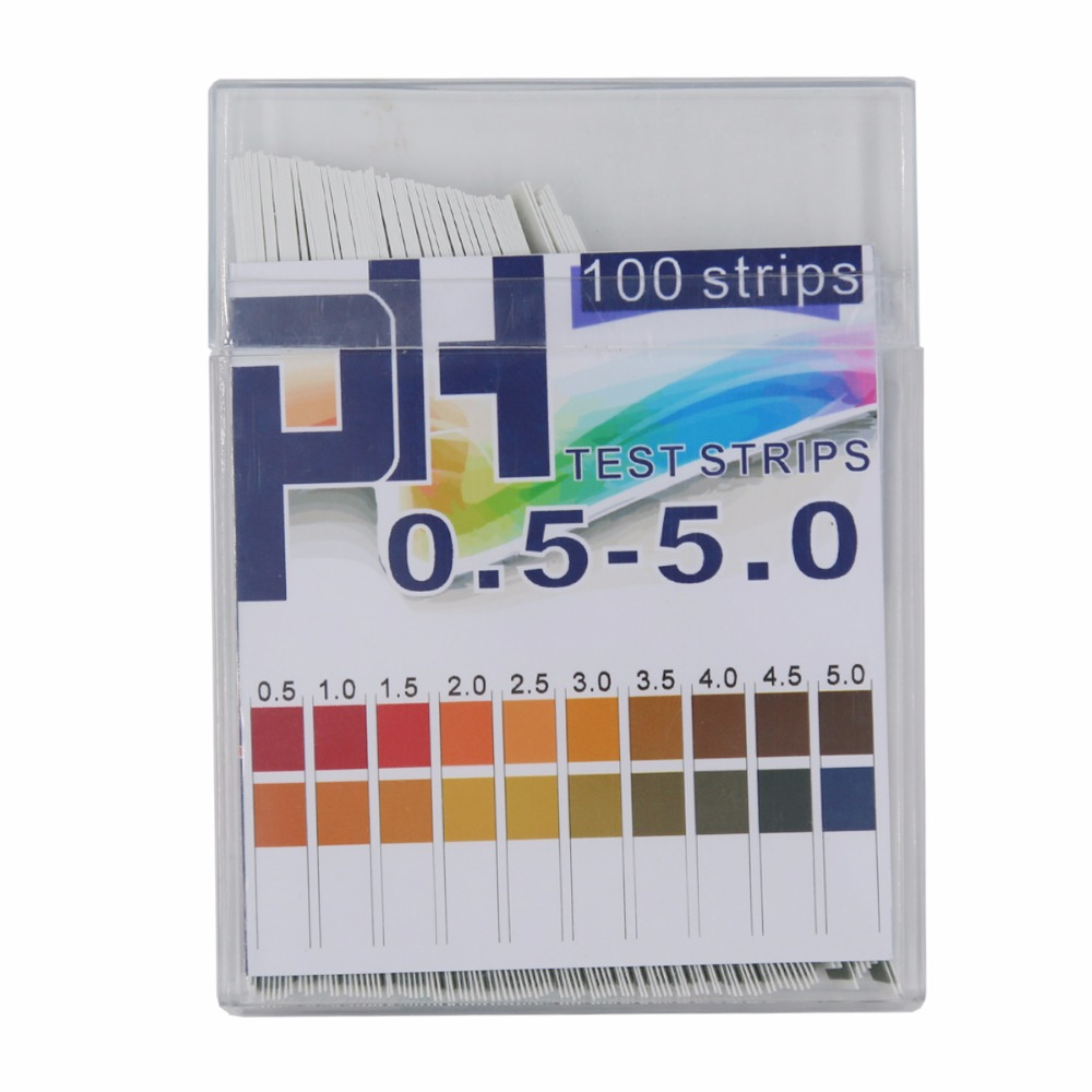 Universal PH Test Paper Strips PH Measure Range 0.5-5 For Research Health, Labs Urine And Saliva 100 Strips 40%Off