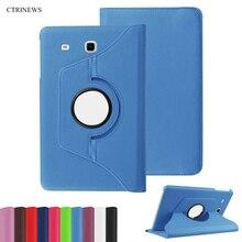 CTRINEWS 360 Grados Giratorio de la Cubierta Para Samsung Galaxy Tab 9.6 E T560 T561 PU Cubierta de La Tableta Del Caso Del Soporte de Cuero Para T560 T561 Coque