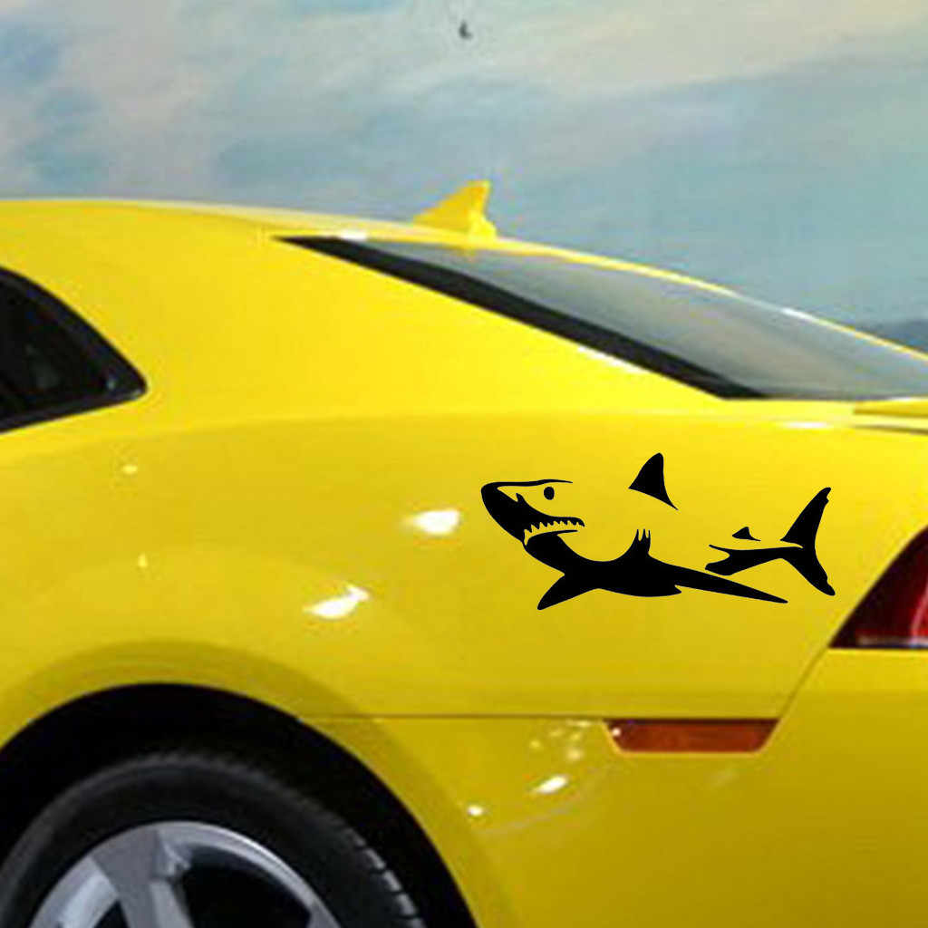 Shark personality side door car stickers Cute cartoon fun car stickers Small car truck racing window vinyl decals 19Mar1