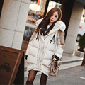 NEW 2016 Europe America winter coat women long loose causal thick hooded windproof cotton-padded plus big size parka jacket W35
