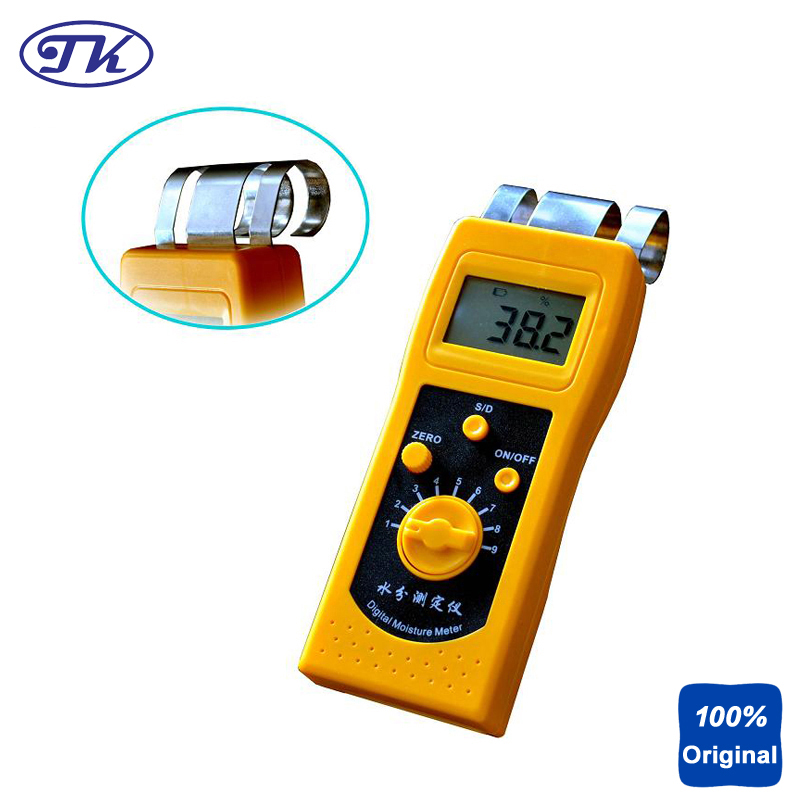 High Quality Moisture Meter Portable Moisture Instrument Digital Wood Moisture Tester NEW DM200W mc 7806 wood moisture meter detector tester thermometer paper 50% wood to soil pin