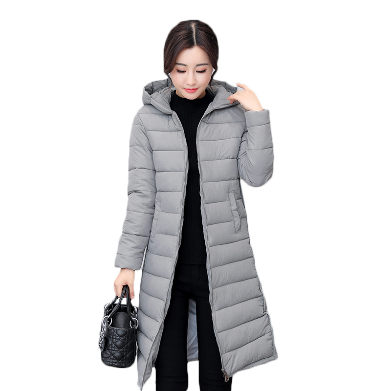 New Wadded Winter Jacket Women Cotton Long Coat with Hood Pompom Ball Fashion Padded Warm Hooded Parkas Casual Ladies Overcoat 2017 new winter women warm hooded thicken slim wadded jacket woman parkas female ladies wadded overcoat long cotton coat cxm31
