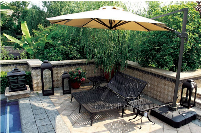 Two person Cast-aluminum Luxury Outdoor sun lounger Outdoor furniture for garden customize model luxury aluminum watch