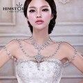 Reina de lujo de Gran Pendiente Cristalino de La Flor Del Hombro Nupcial Collar de Cadena de Joyería Del Banquete de Boda de Accesorios