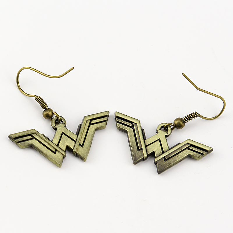Fashion Wonder Woman Geeky Accessory Comic Superhero Cosplay Jewelry Drop Shipping Earrings Justice League Style Earrings