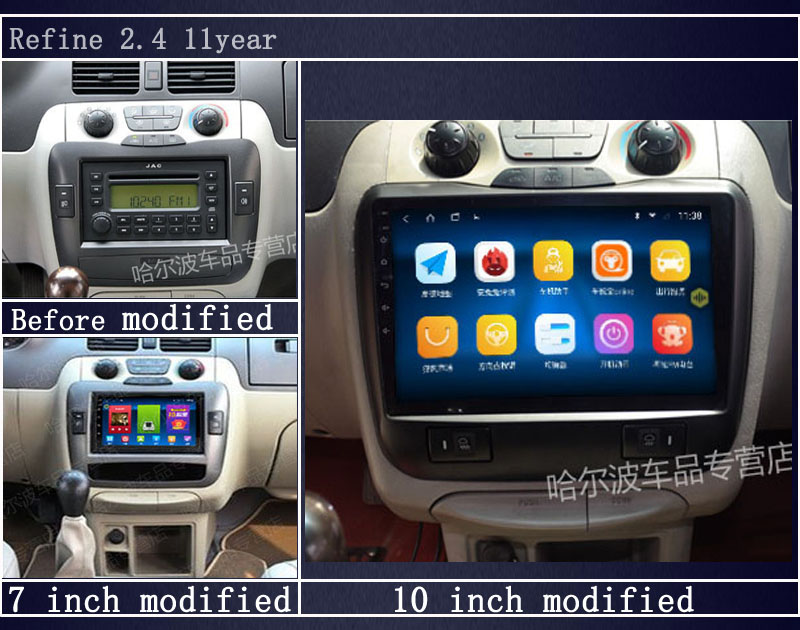 9 / <font><b>10</b></font> <font><b>Inch</b></font> <font><b>Android</b></font> System Vehicle Universal Receiver Multimedia Audio Player For Refine MP3 MP4 Music Bluetooth Function image