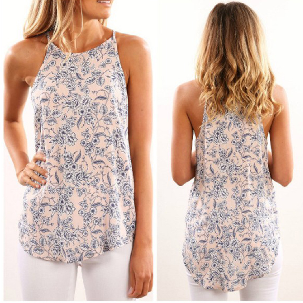 5XL Plus Size Women Tank Top 2018 Summer Floral Printed Slim Vest Camisole Casual Ladies Sleeveless Pink Tee Shirt Camisas Mujer