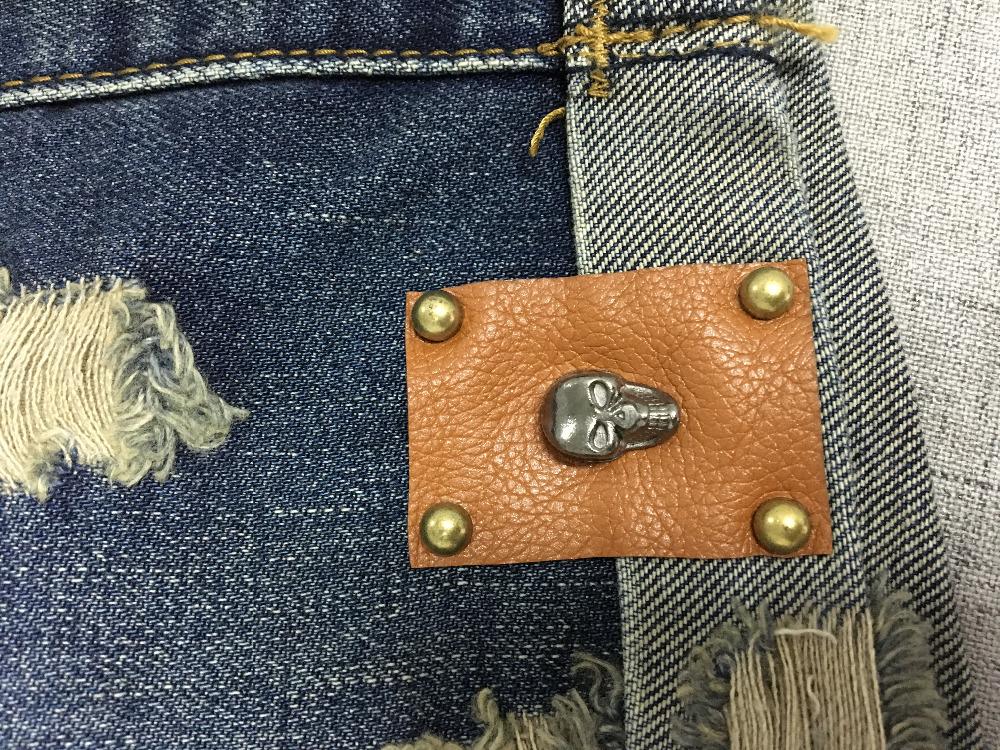 Vintage Club Denim Ripped Shorts 7