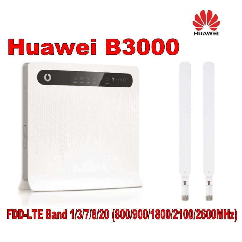 HUAWEI B3000 vodafone 4G WIFI Router unlocked 4G 150Mbps LTE CPE wireless router+2pcs B3000 antenna