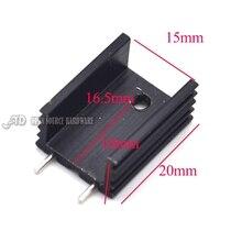 U-тип пакета TO-220 транзистор радиатора радиатор 20*15*10 ММ черный двойной иглой