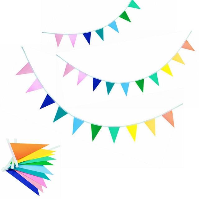 2 м (6.5ft) красочные бумаги флаг овсянка Радуга флаг гирлянды Партия овсянка день рождения рынок киосков овсянка украшения партия