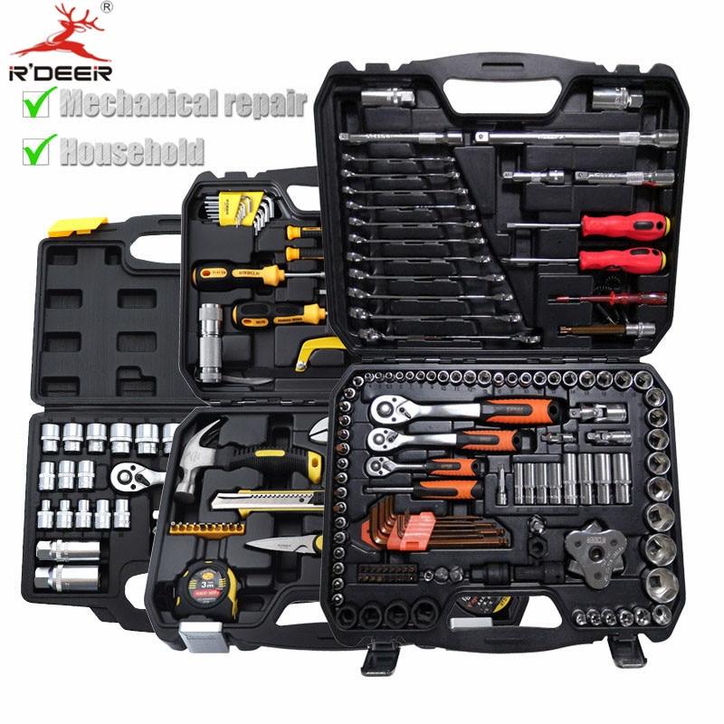 Набор ручных инструментов 18 127 шт бытовой набор инструментов с чехлом профессиональный набор инструментов для ремонта автомобиля