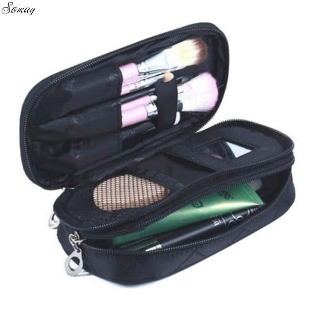 104f82555634 Women Travel Nesesser Toiletry Bag Purse Small Makeup Bag Lady Storage  Brush Organizer Make Up Case
