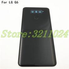 Оригинальная задняя крышка 5,7 дюйма для LG G6, крышка аккумулятора, корпус, стекло для H870, H871, H872, H873, LS993 с сенсорным экраном и объективом камеры