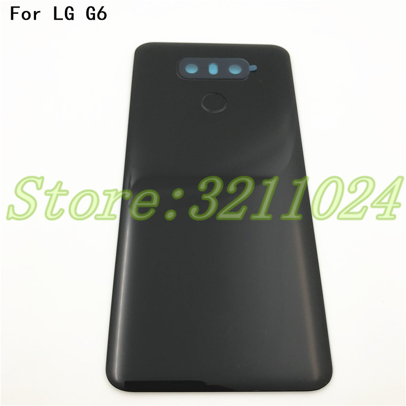 Original 5.7 inches Back Cover For <font><b>LG</b></font> <font><b>G6</b></font> Battery Cover Housing Glass For H870 H871 H872 <font><b>H873</b></font> LS993 with touchid +camera lens image
