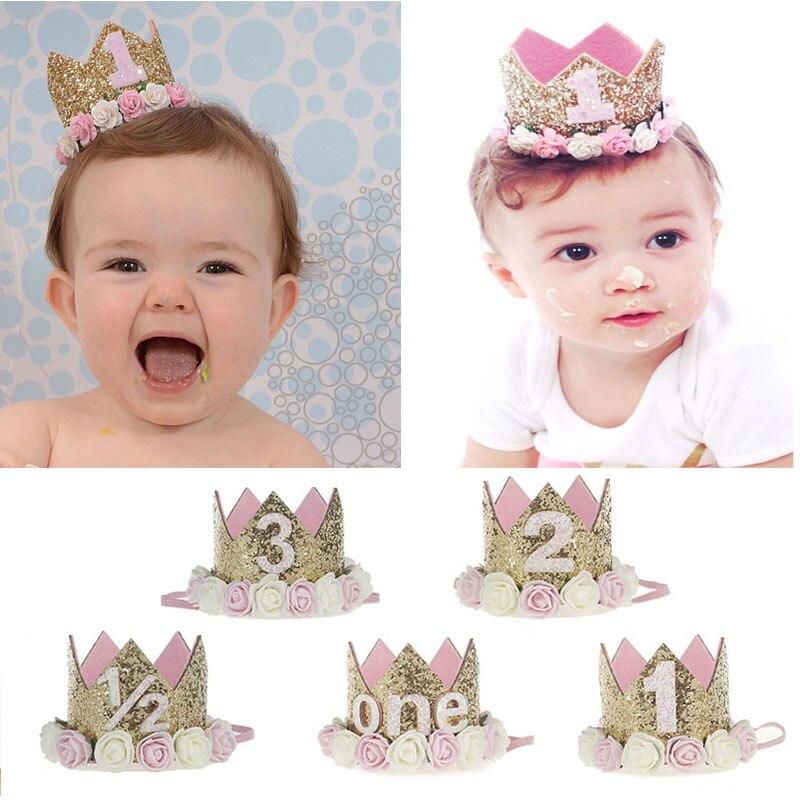 Baby Kids Girls Princess Birthday Party Crown Headband Hair Clip Decor Cute Gift