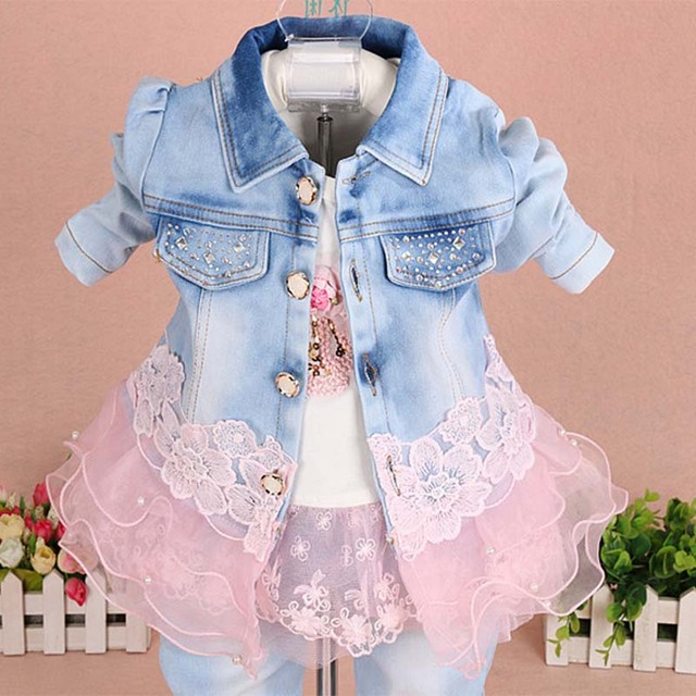 Toddler girl clothes 2019 Spring Autumn fashion children clothing set kids baby cowboy clothes sets denim jacket +girls jeans