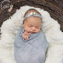 Don&Judy Newborn Wrap for Photo Shooting Stretch Baby Lace Nubble Photography Props Infant Shoot Blankets Hammock