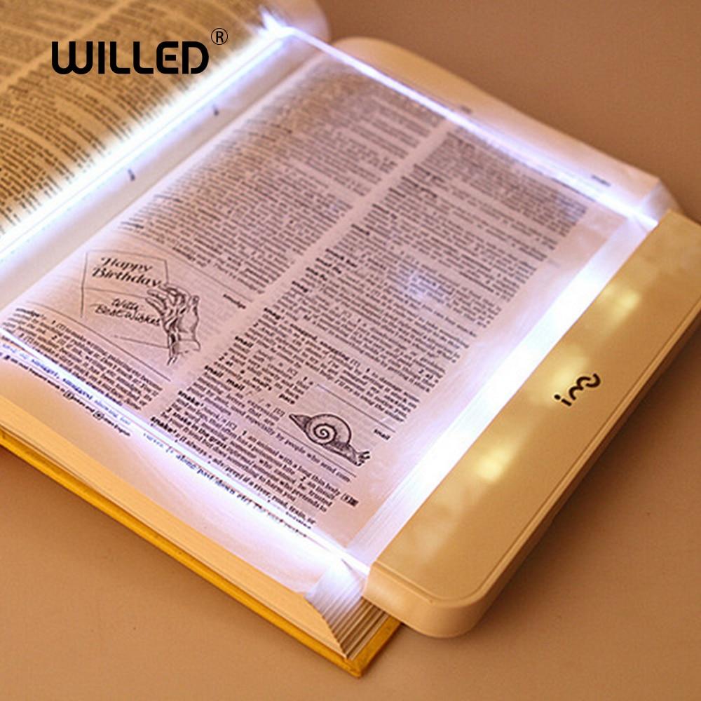 Book Light Flat LED Panel Reading Lamp Car Travel Plate Lights Magic Night Vision Lamp Protect Eyes Portable Dropshipping