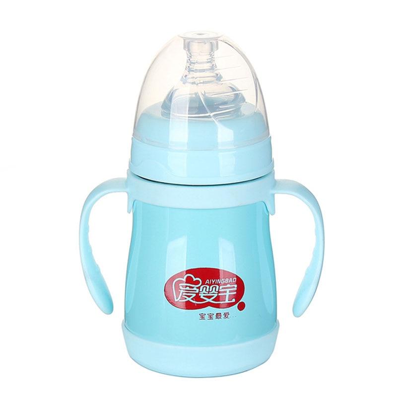 160ml Stainless Steel Heat Keep Baby Milk Feeding Bottle