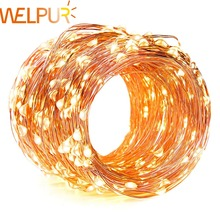 led Strip 2m 5m 10m String Lights Cooper Wire LED Fairy Lights Christmas Wedding Decoration Lights Garden Battery Operated cheap WELPUR 50000h Switch 2 88W m cooper wire string light 2800-6500k 4 5v christmas light cooper wire 10pcs m 10leds m String Light Cooper Wire Light Christmas Light