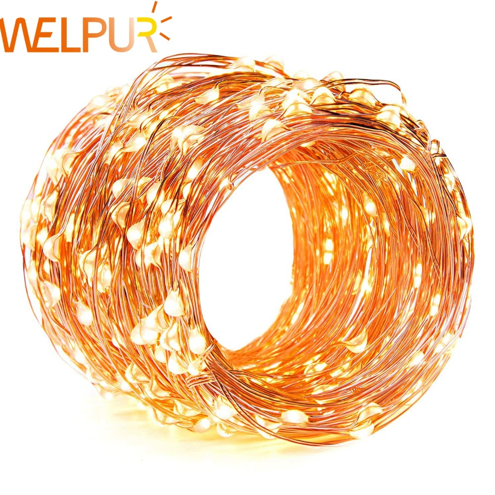 Led Strip 2m 5m 10m String Lights Cooper Wire LED Fairy Lights Christmas Wedding Decoration Lights Garden Battery Operated