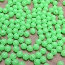 200 pcs hard glowing fishing beads floats Round stopper Luminous beads fishing accessories bulk float for night fishing